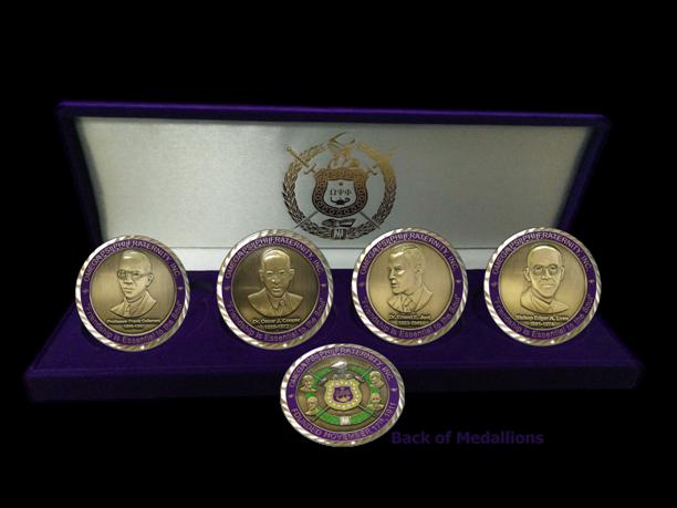 Omega Psi Phi Founders Medallion Coin Set